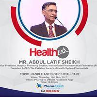 HealthLive Session with Mr. Abdul Latif Sheikh