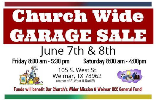 Church Wide Garage Sale at 105 S West St, Weimar, TX 78962