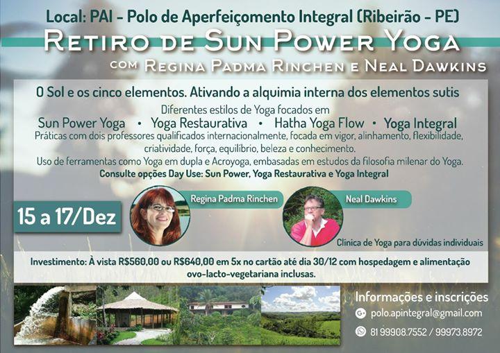 Retiro de Sun Power Yoga O Sol e os cinco elementos