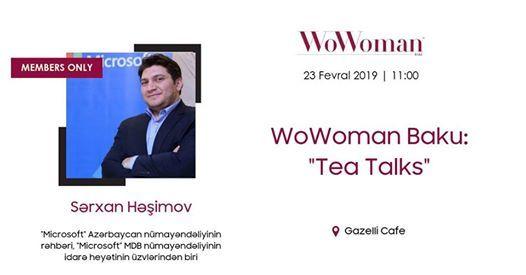 WoWoman Baku Tea Talks with Sarkhan Hashimov