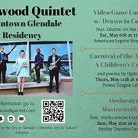 Video Game Concert Driftwood Quintet Glendale Residency