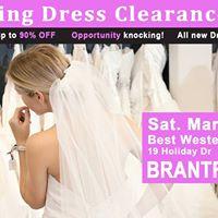 Brantford Pop Up Wedding Dress Sale