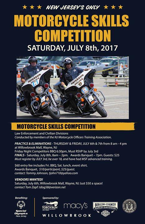 NJ Motorcycle Skills Competition at Wayne, NJ, United States