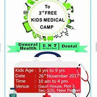 3rd FREE Kids Medical Camp