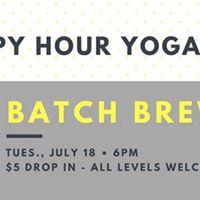 7-18 Happy Hour Yoga