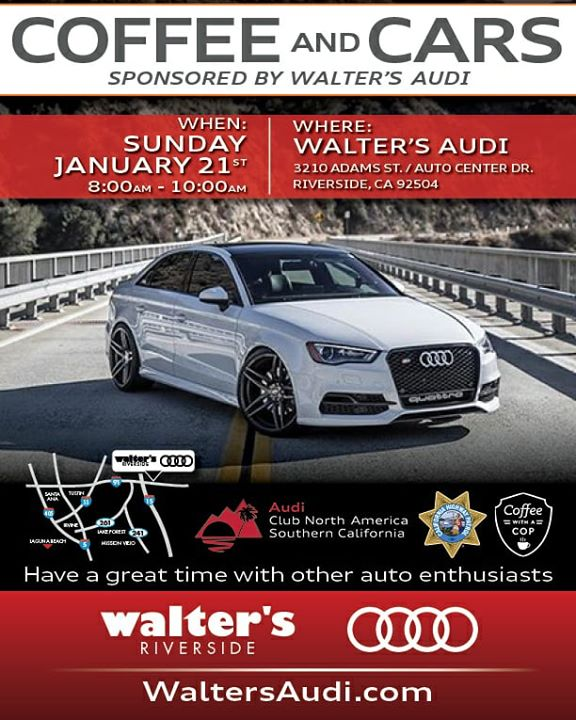Coffee And Cars At Walters Audi Riverside - Walter audi