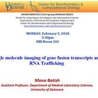 Bioinformatics Seminar - Mona Batish