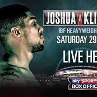 Anthony Joshua vs Wladimir Klitschko - LIVE Boxing