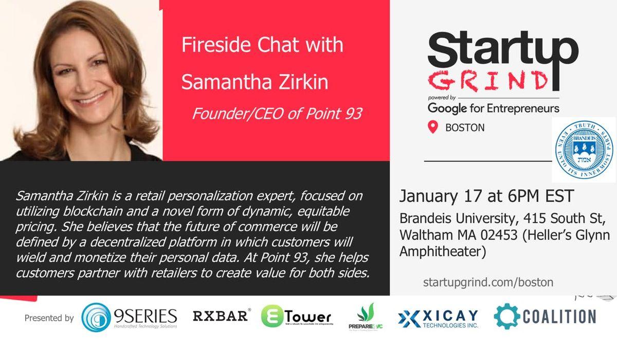 StartupGrind Presents Samantha Zirkin (Point 93) Blockchain in Retail