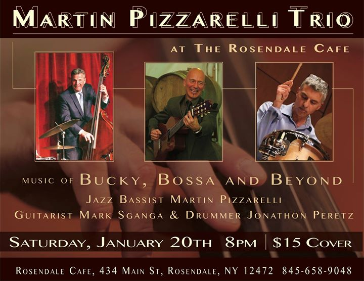 Martin Pizzarelli Trio w Mark Sganga & Jonathon Peretz