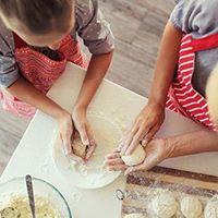 Madhygge for sm kokkespirer - forlderbarn eller barnebarn