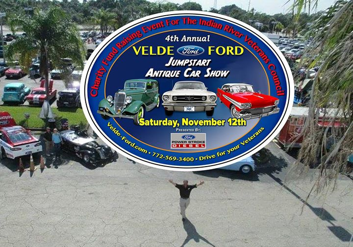 Th Annual Velde Ford Jump Start Antique Car Show At Velde Ford Inc - Vero beach car show