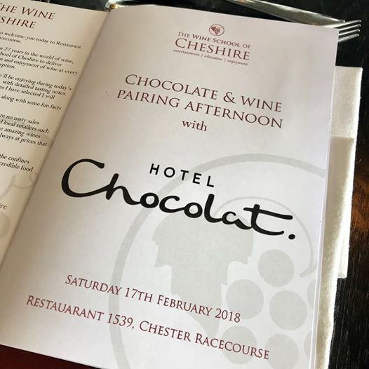 Chocolate and wine pairing afternoon with Hotel Chocolat at 1539