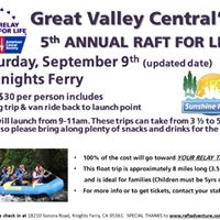 5th Annual Raft For Life Fundriaser