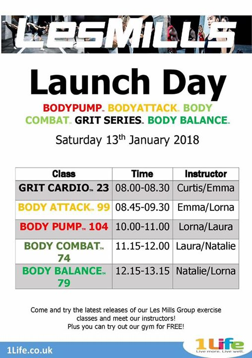 Les Mills Launch day! at Grantham Meres Leisure Centre, Lincolnshire