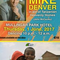 Mike Denver night of Dancing in aid of Tanzanian Heavenly Homes