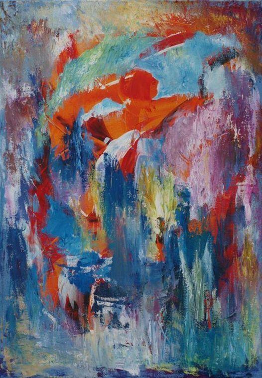 Liselotte Stenholt udstiller malerier