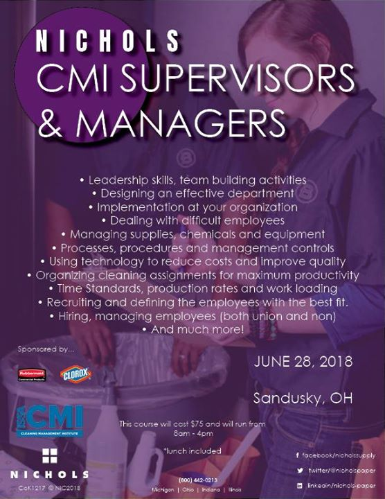 Issa Cmi Cleaning Managers Supervisors Training Course At Sandusky