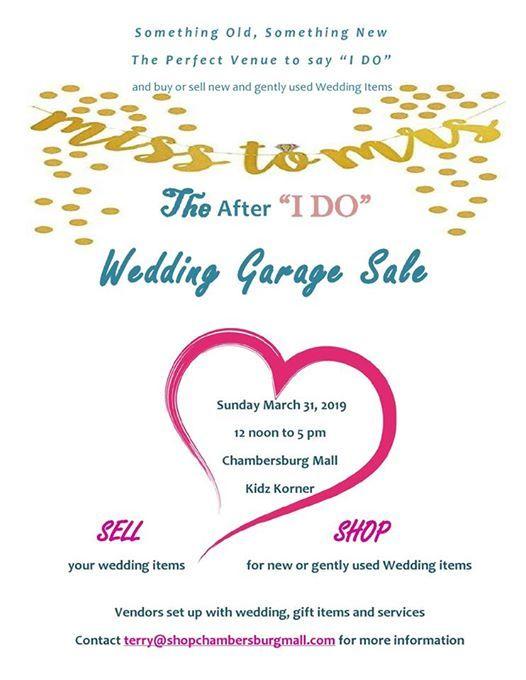 Wedding Garage Sale.The After I Do Wedding Garage Sale At Chambersburg Mall3055 Black