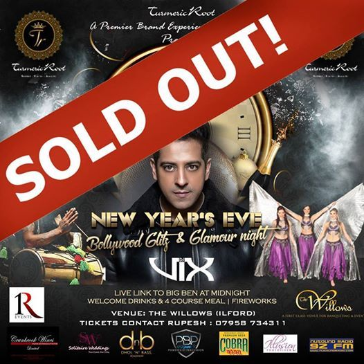SOLD OUT - NYE 2018 - Bollywood Glitz & Glamour Night