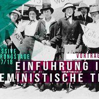 Einfhrung in die feministische Theorie  Vortrag