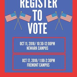 Ohlone Civic Engagement Club Register To Vote At Ohlone College