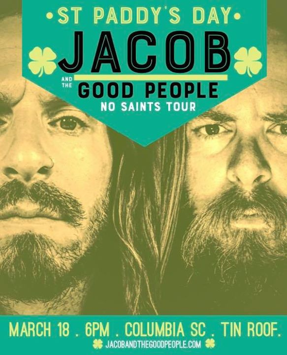 Service Industry St. Pats Do OVER with Jacob & The Good People 6PM