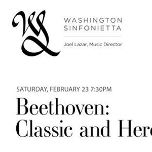 Washington Sinfonietta Presents Beethoven Classic and Heroic