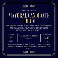 Topeka Mayoral Candidate Forum