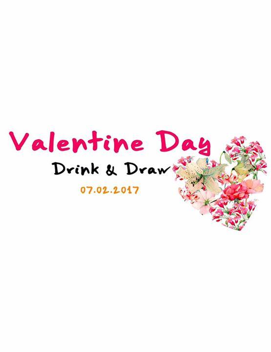 Valentine Day Drink & Draw