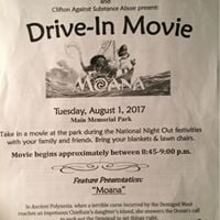Clifton Recreation Department Drive-In Movie