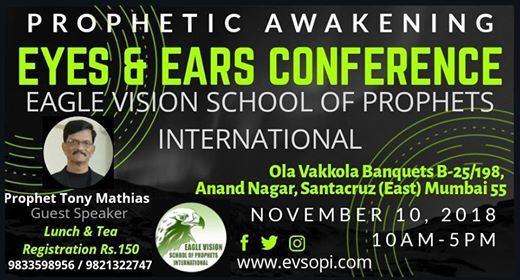 Eyes and Ears Prophetic Conference Speaker Tony Mathias