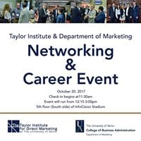 Taylor InstituteDept. of Marketing Networking and Career Event