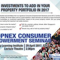 PropNex Consumer Empowerment Seminar 2017