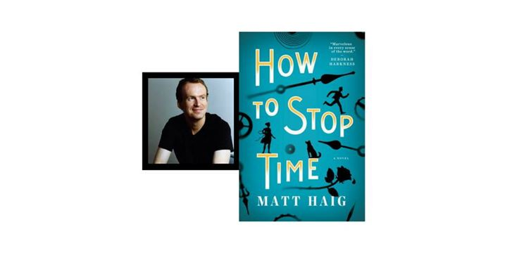 Matt Haig signs How To Stop Time