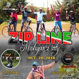 Zipline Barbeque Mashujaa party 4500