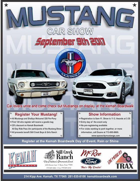 Mustang Car Show At Kemah Boardwalk Kemah - Kemah car show