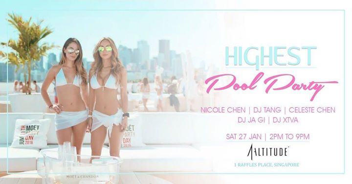 Sunset Vibes Highest Pool Party at 1-Altitude (27 Jan Sat)