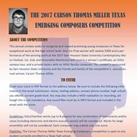2017 Carson Thomas Miller Texas Emerging Composers Competition