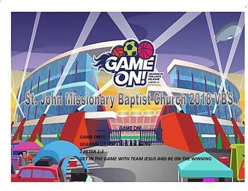 St John Mbc Vbs 2018 Game On For Team Jesus At St John