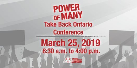 Power of Many Take Back Ontario Conference