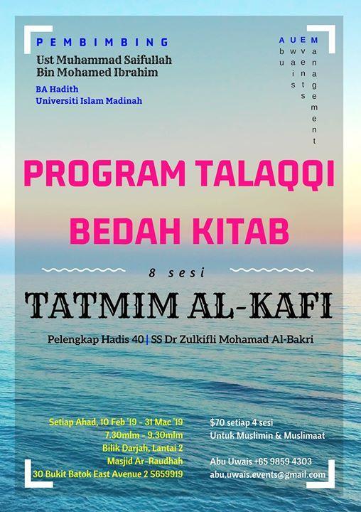 Program Talaqqi Bedah Kitab Tatmim Al-Kafi