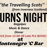 Burns Night at Montenegro C Bar