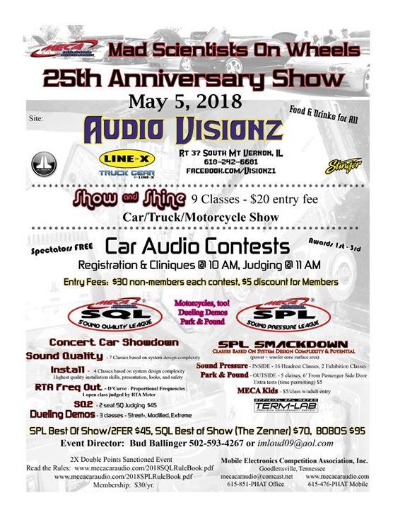 Th Anniversary Stereo CompCar Show MECA X Event At Audio - Meca car show