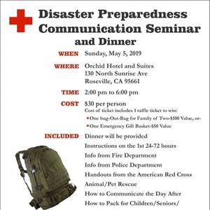 Disaster Preparedness Communication Seminar and Dinner