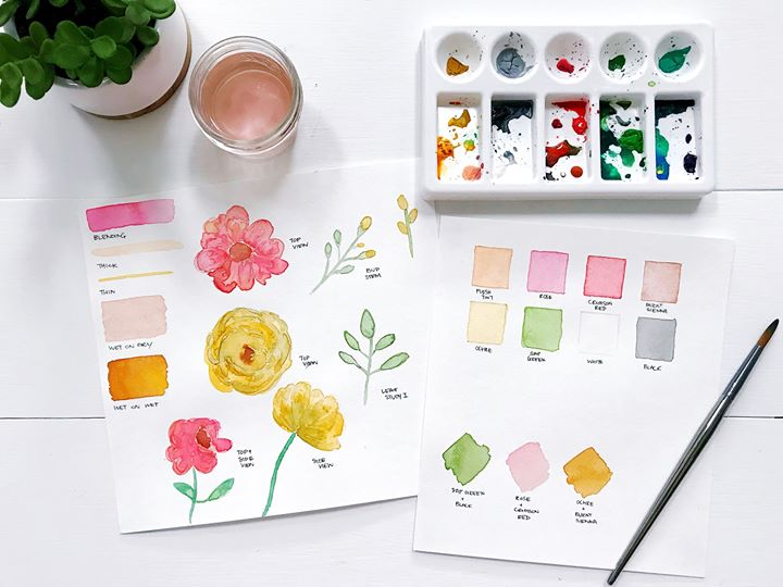 Intro to Watercolor Painting Flowers Workshop