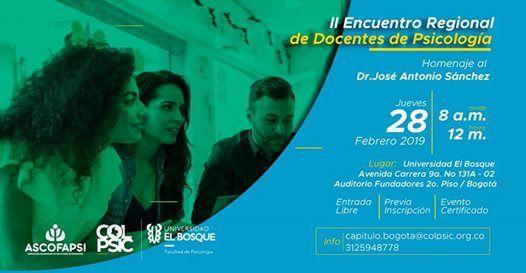 II Encuentro Regional de Docentes de Psicologa