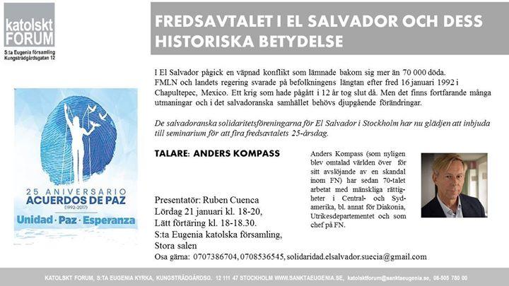Anders Kompass om 25 r av fred i El Salvador