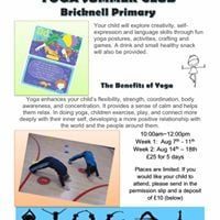 Kids Yoga Summer Club  Bricknell Primary