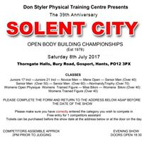 Solent City Body Building Championship 2017